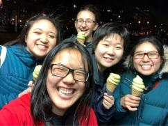 Matcha ice cream in D.C. before GWU performance 2018
